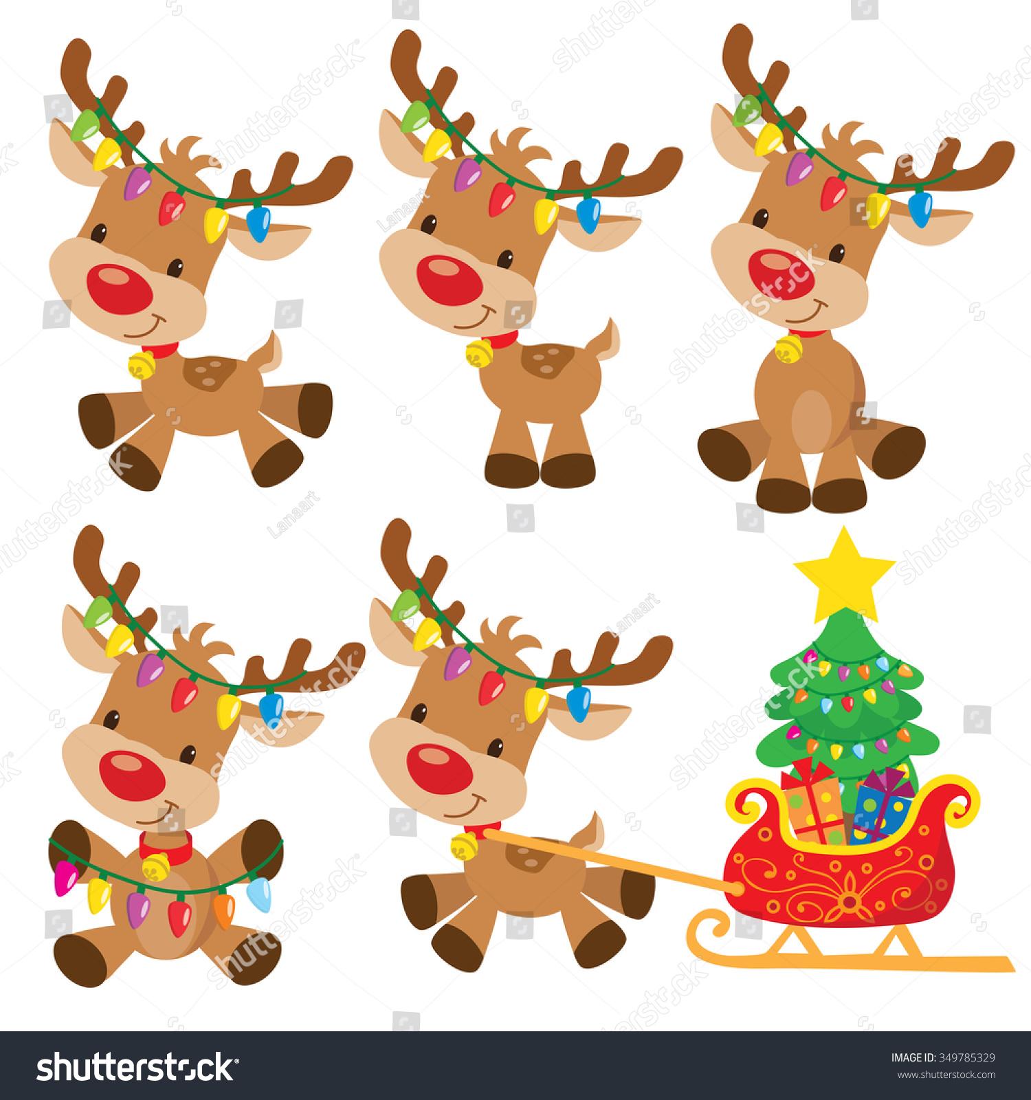 Christmas Reindeer Vector Illustration - 349785329 ...