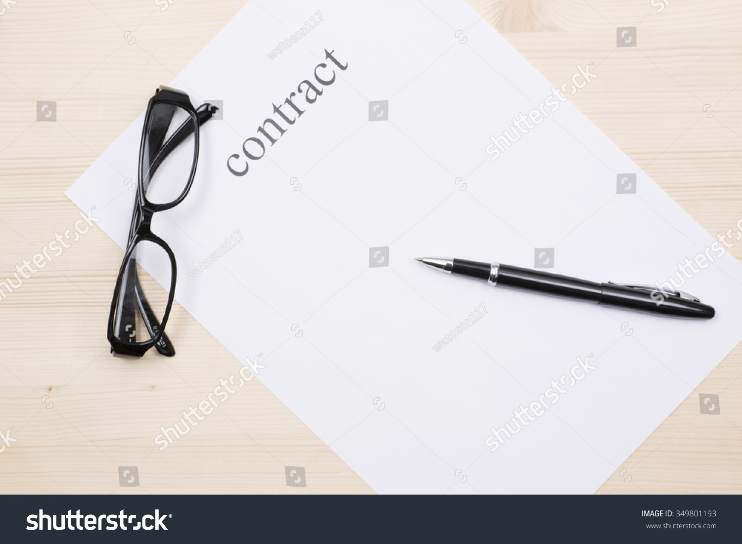 Blank Contract Photo 349801193 Shutterstock – Blank Contract