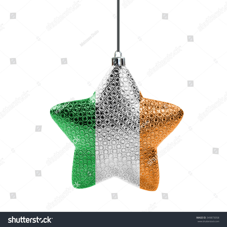 Glossy Christmas Star National Colors Ireland Stock Illustration ...