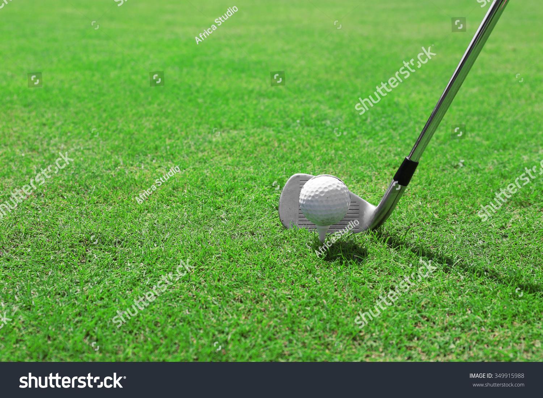 Titleist golf ball on grass
