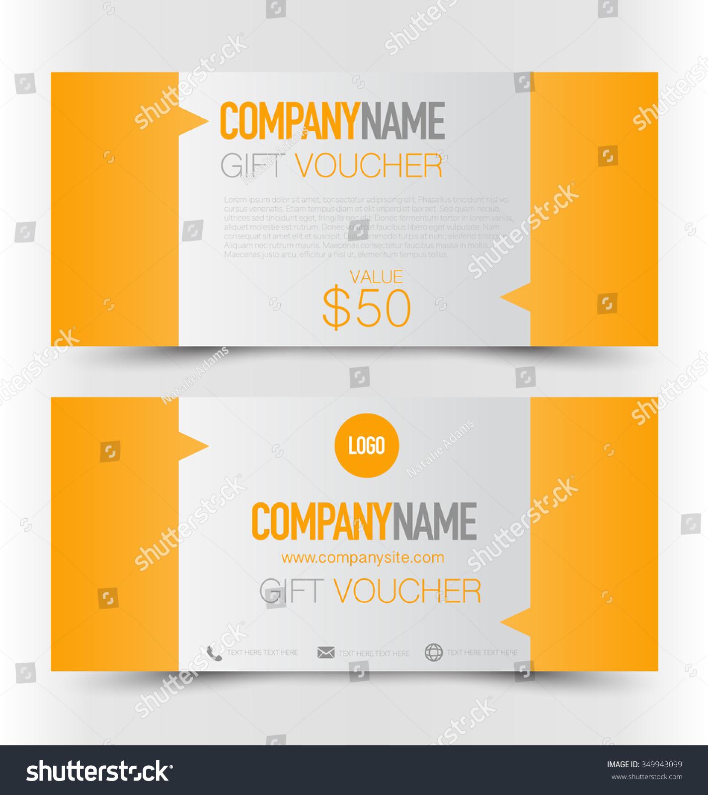 t card voucher business banner template stock vector