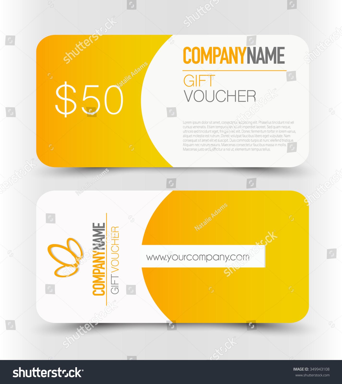 Gift Card Voucher Business Banner Template Stock Vector