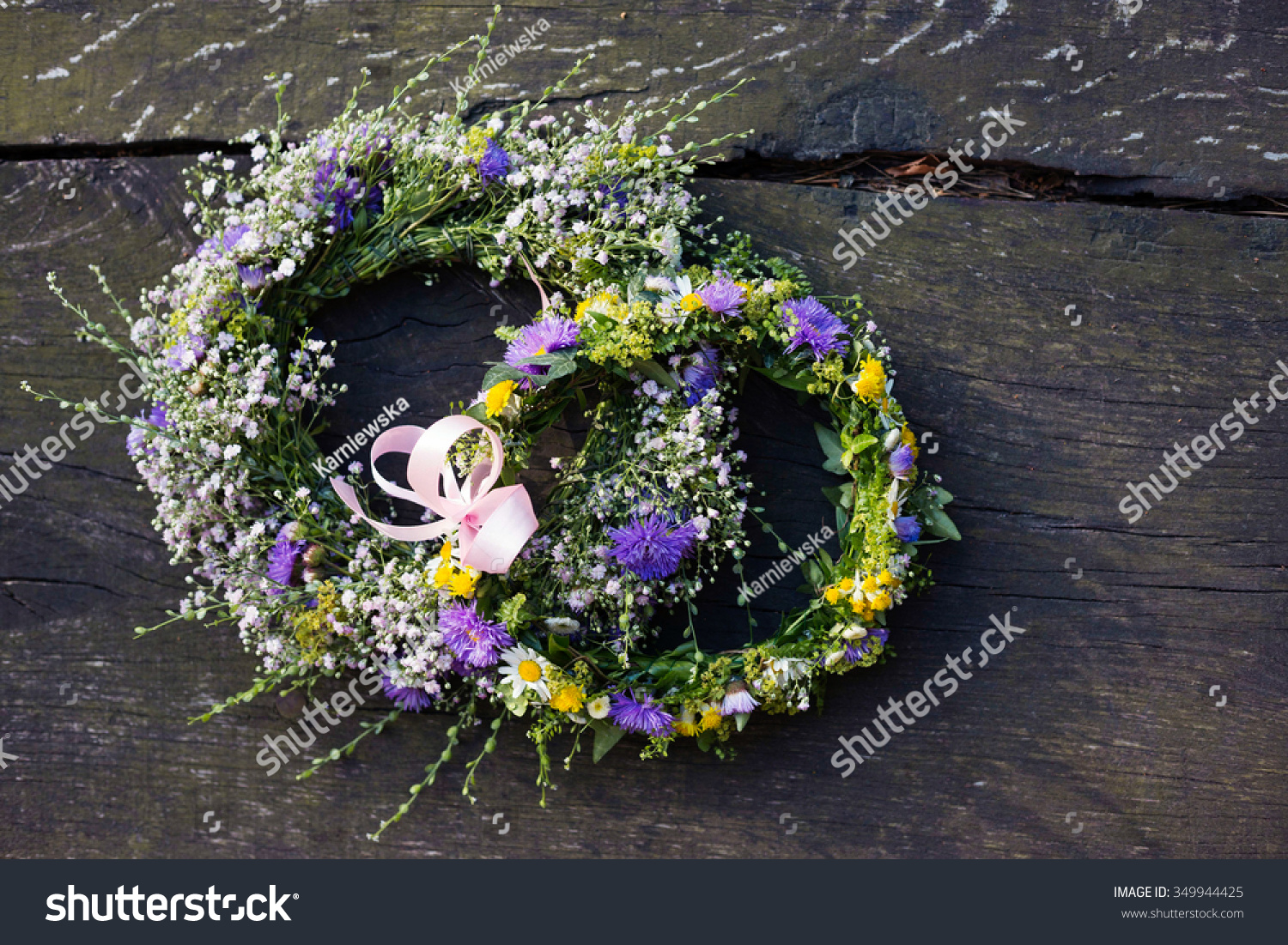 Top Down View Handmade Flower Crowns Stock Photo Edit Now
