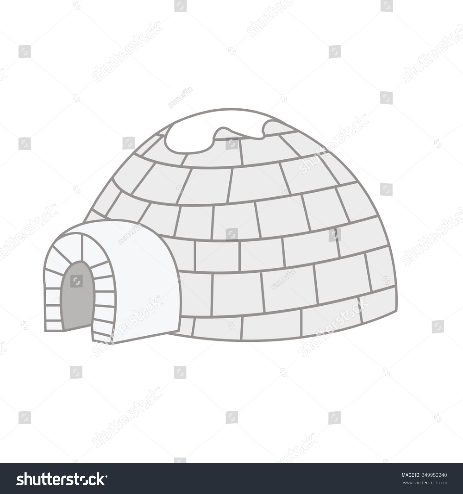 Igloo vector drawing design art illustration stock vector igloo vector drawing design art illustration pooptronica