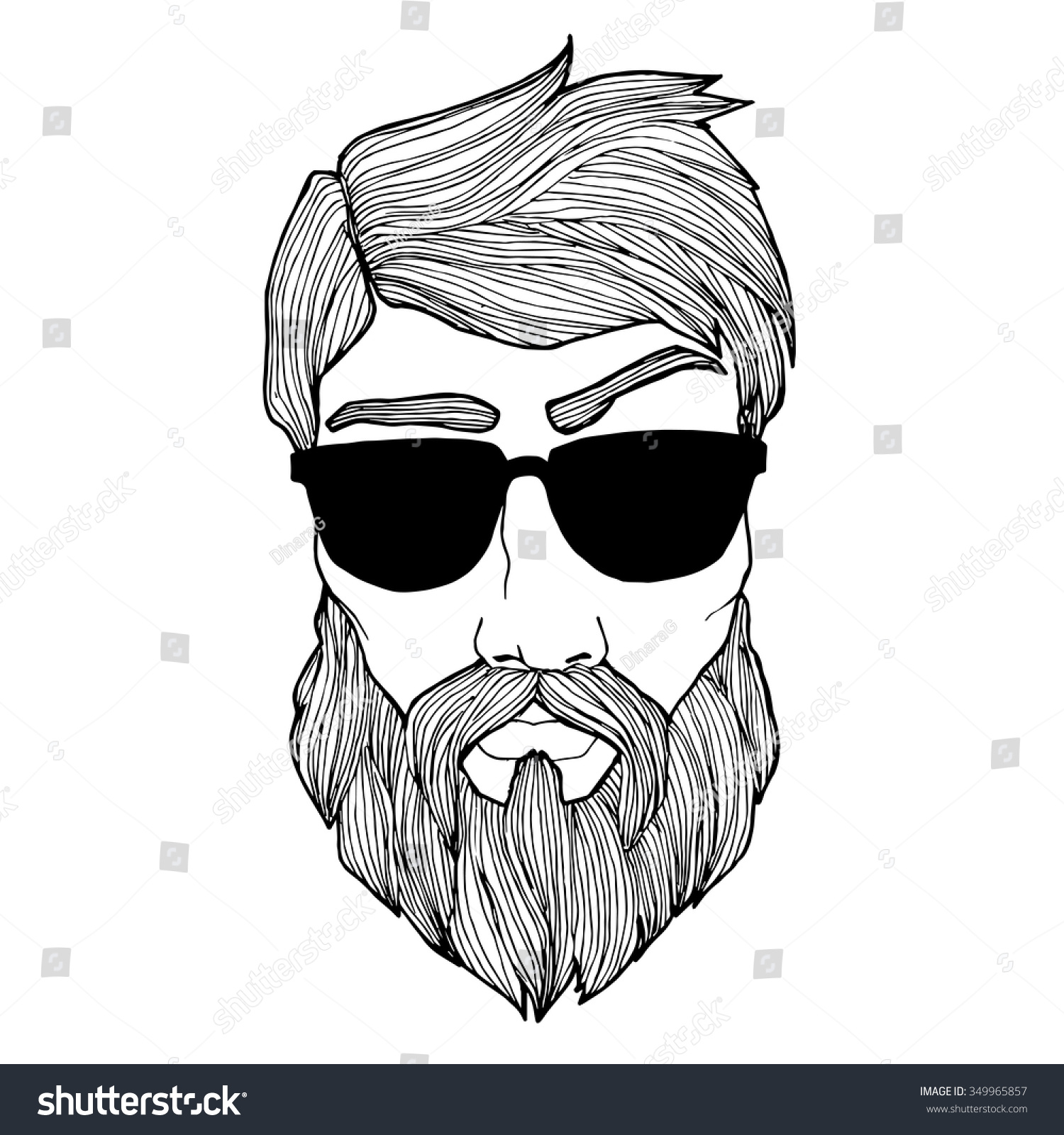 Line Drawing Styles : Vintage handdrawing pattern hipster lineart style stock