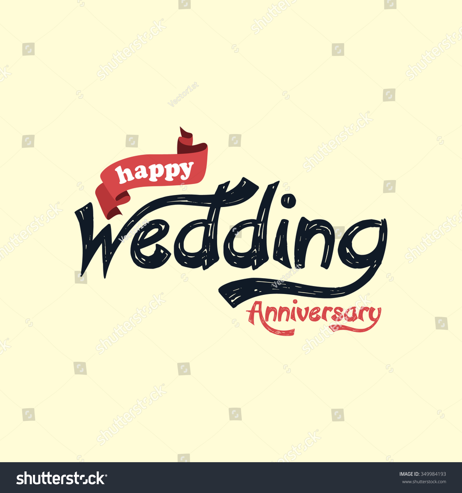 Happy Wedding Anniversary Theme Vector Art Stock Vector 349984193