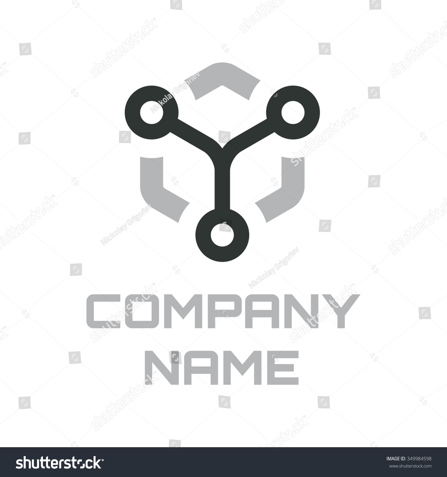 Template Electronics Logotype Computer Branding Elements Stock