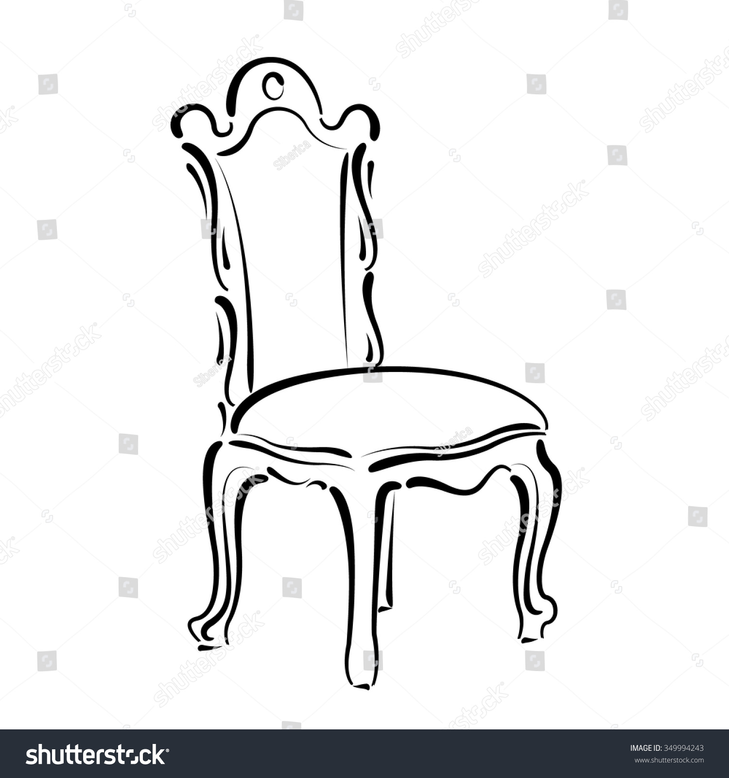 Klismos chair drawing - Chair Sketch Chair Sketch Vector Illustration With Designs Chair Sketch