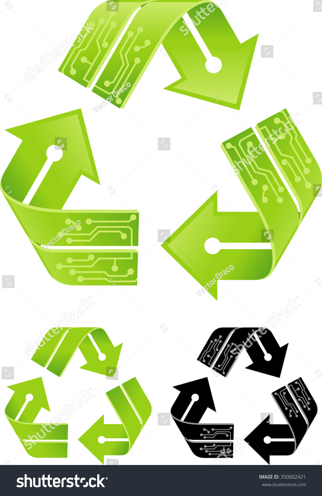 Electronic Recycling Recycle Symbol Circuit Board Decor Stock Vector How To Boards With