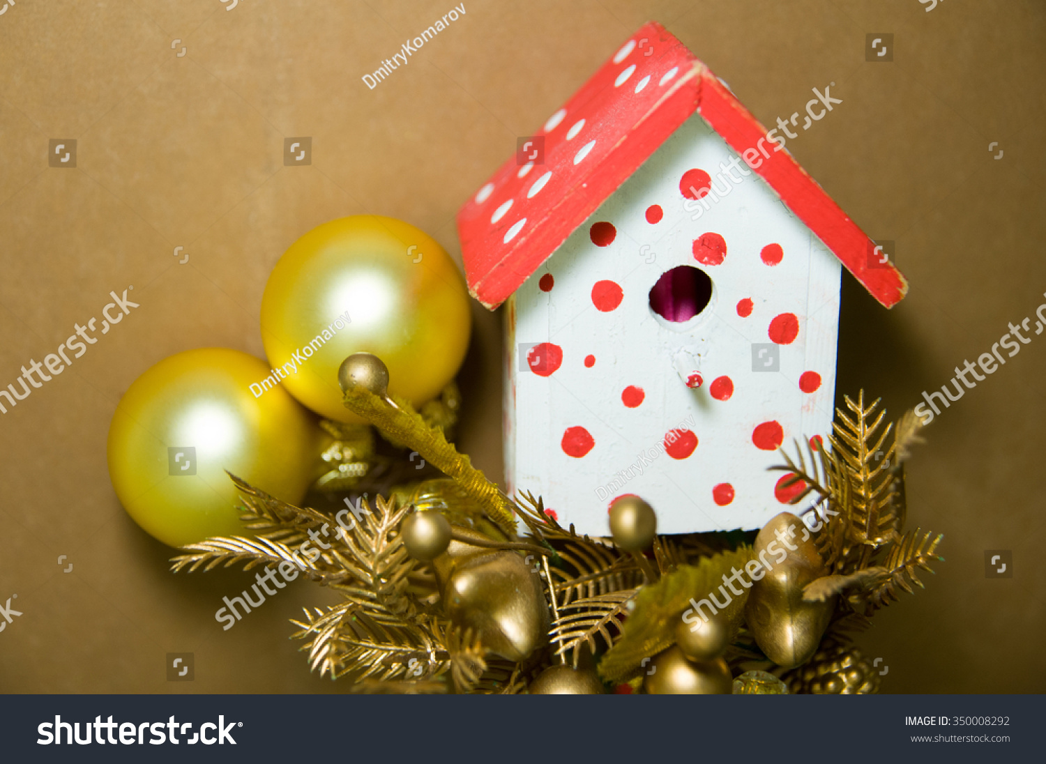 Bird House Christmastree Decorations Brown