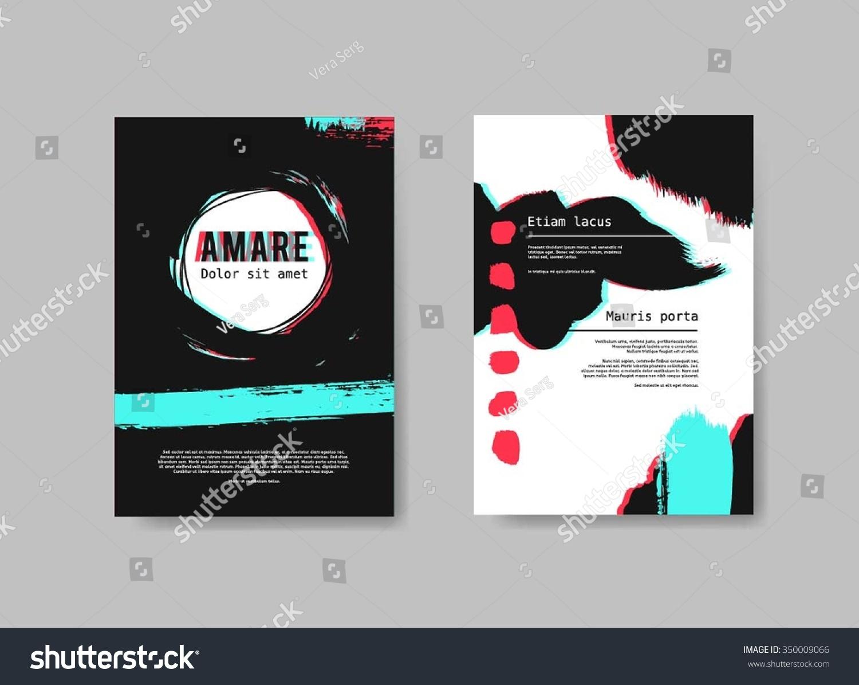 Set Design Templates Brochures Abstract Hand Stock Vector Royalty