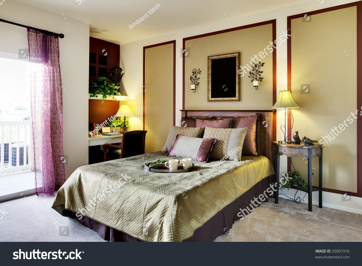 Well decorated apartment bedroom stock photo 35001916 for Well decorated bedroom