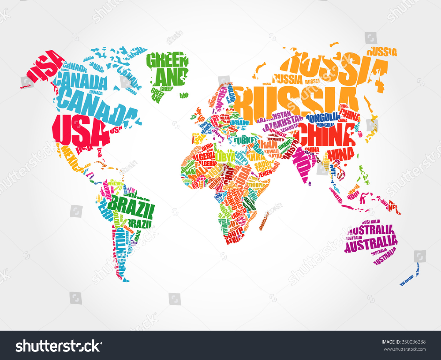 World map typography word cloud concept stock vector royalty free world map in typography word cloud concept names of countries gumiabroncs Choice Image