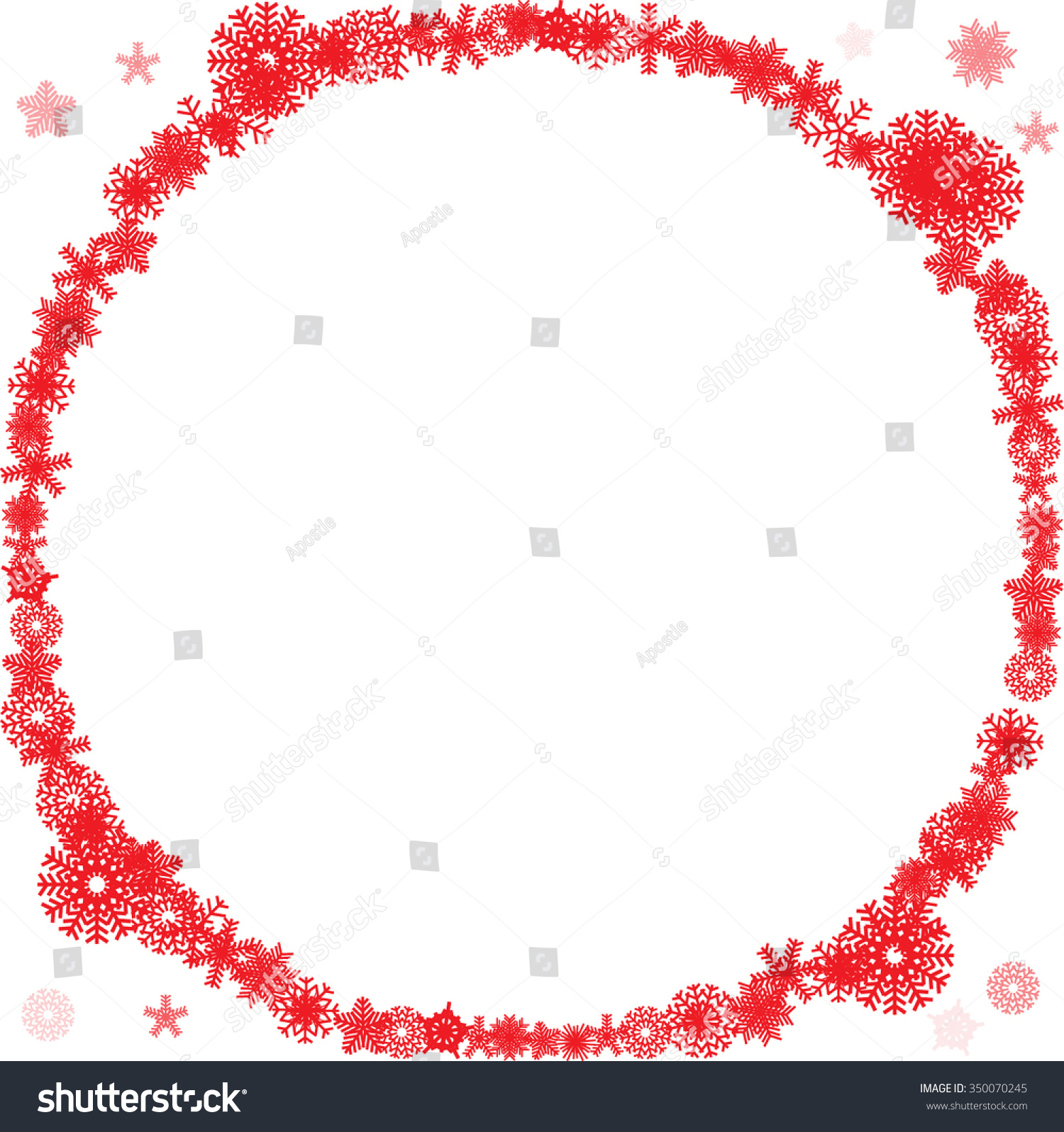 Red gift bows border with clipping path for easy background removing - Christmas Background Red And White