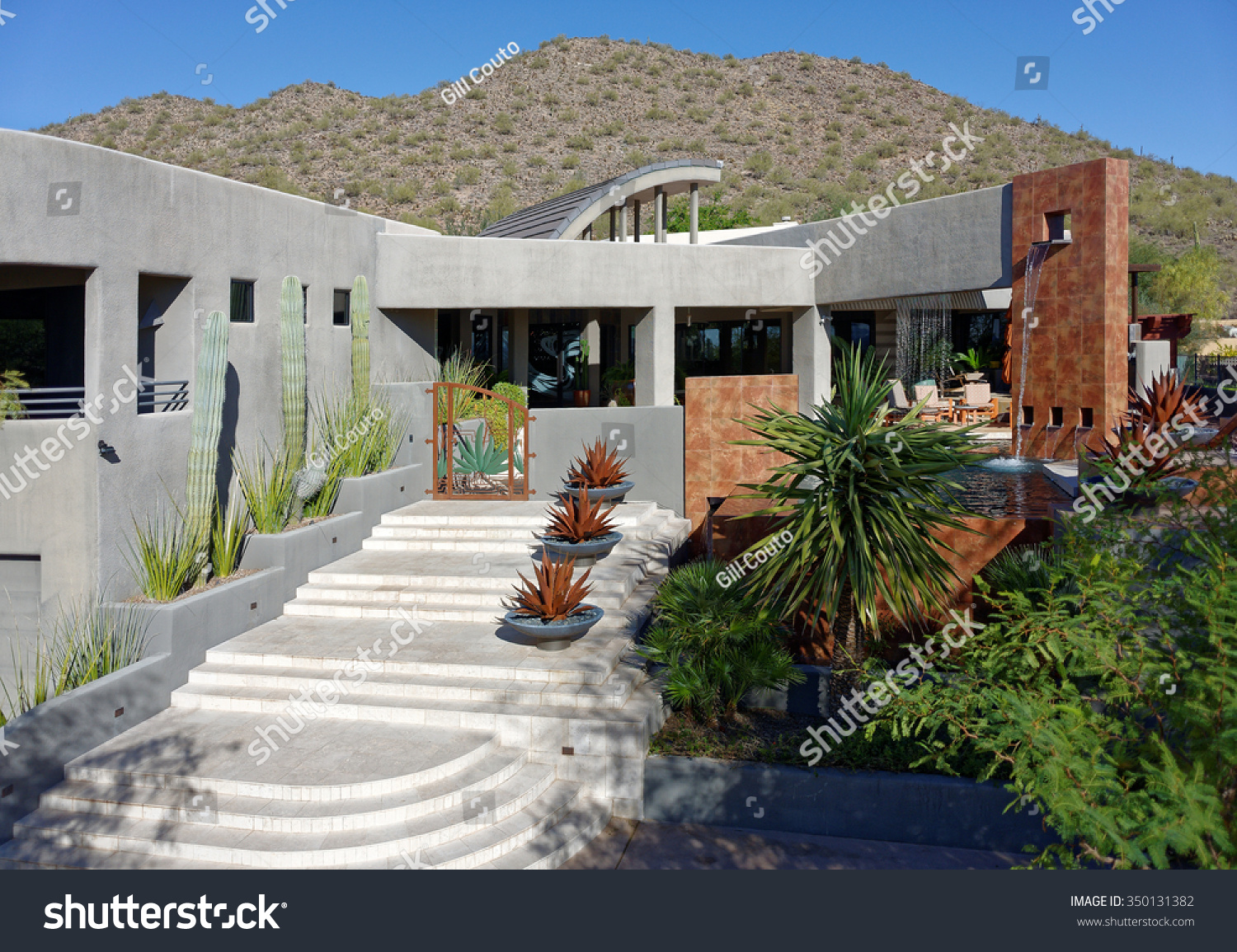 Contemporary Architectural Style Luxury Home Exterior The