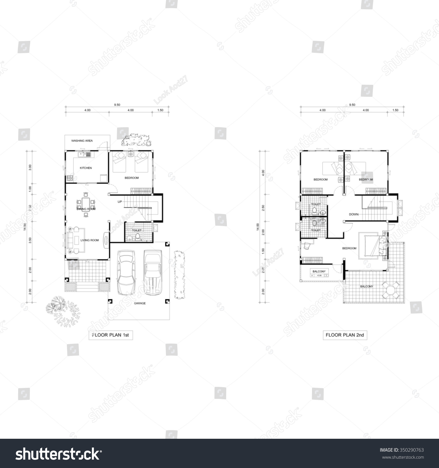 Architecture plan drawing design house plans stock for Upstairs floor plans