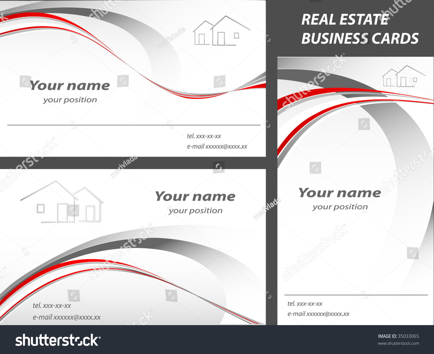 Vector business cards real estate construction stock vector vector business cards for real estate or construction company magicingreecefo Images