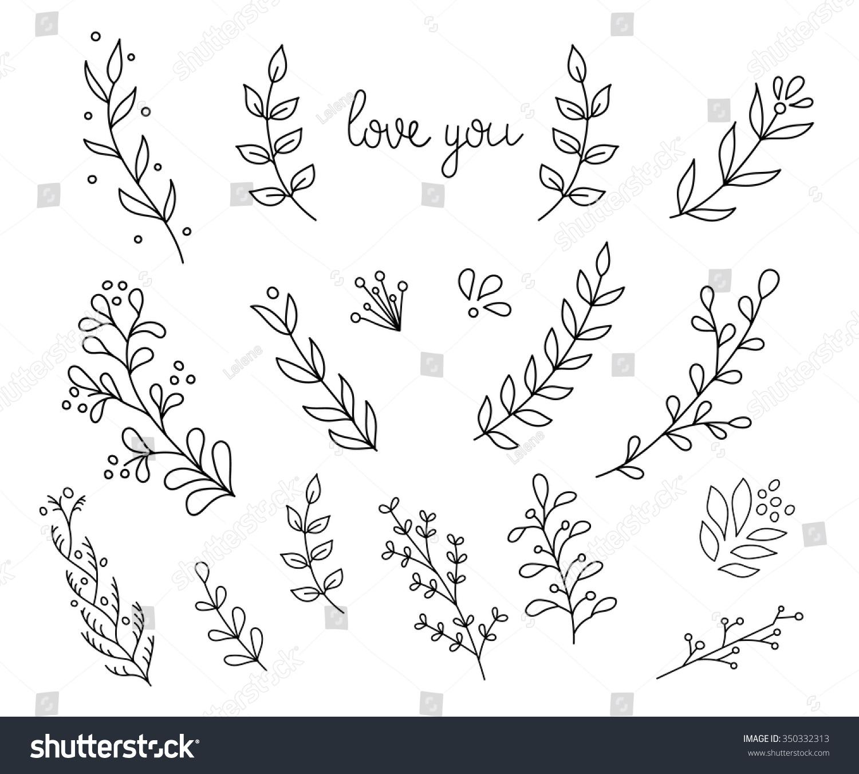Flourish swirl ornate decoration pointed pen stock vector