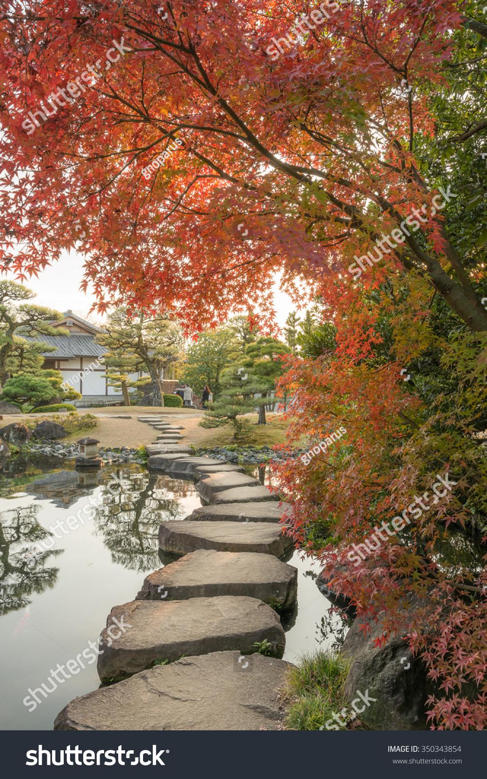 Stepping Stones Paths Roji Kokoen Garden Stock Photo (Edit Now ...