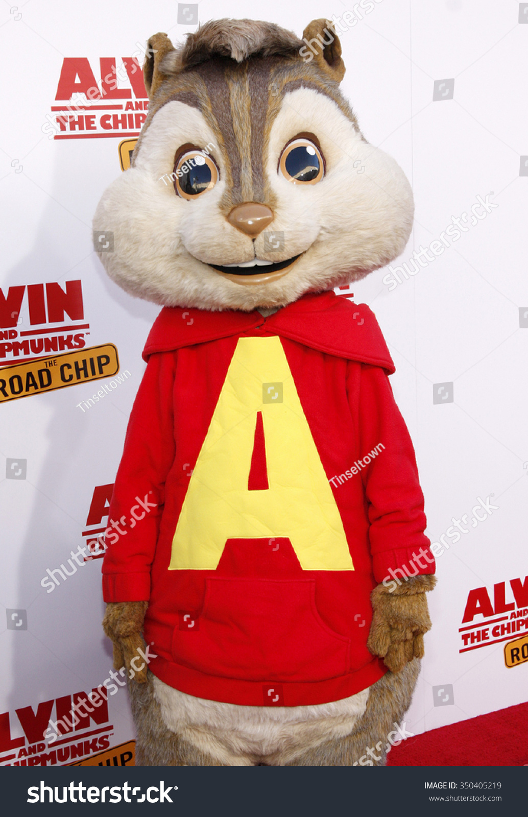 alvin los angeles premiere alvin chipmunks stock photo (royalty free