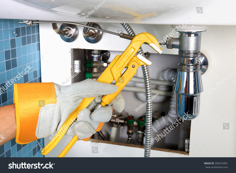 Royalty-free Plumbing work and sanitary engineering… #350410391 ...