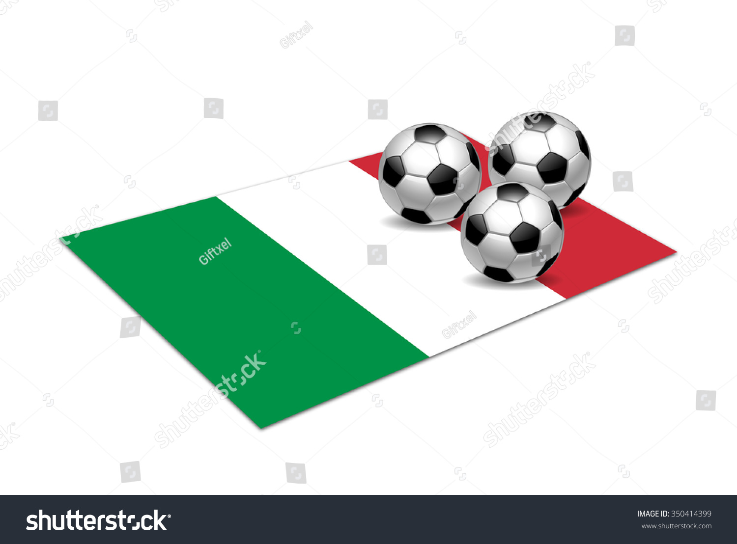 a23d1409a Italy National Flag Soccer Balls Stock Illustration 350414399 ...