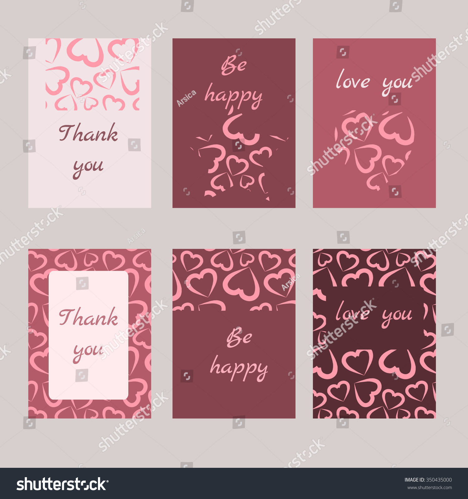 Set 6 Cards Abstract Ornament Wedding Stock Photo (Photo, Vector ...