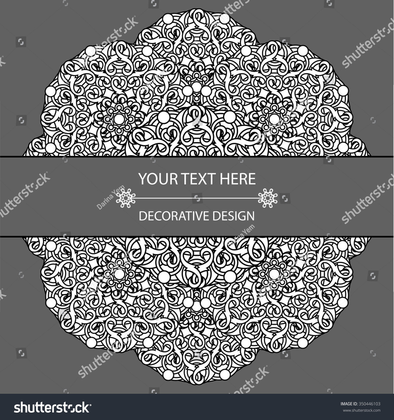 template business card invitation circular patterns stock vector