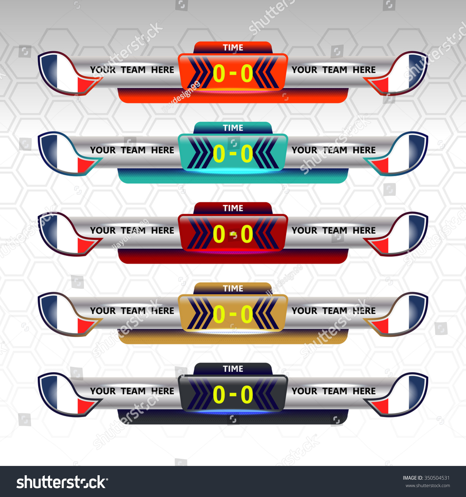 Soccer Scoreboard Template Vector Illustration Vector – Scoreboard Template
