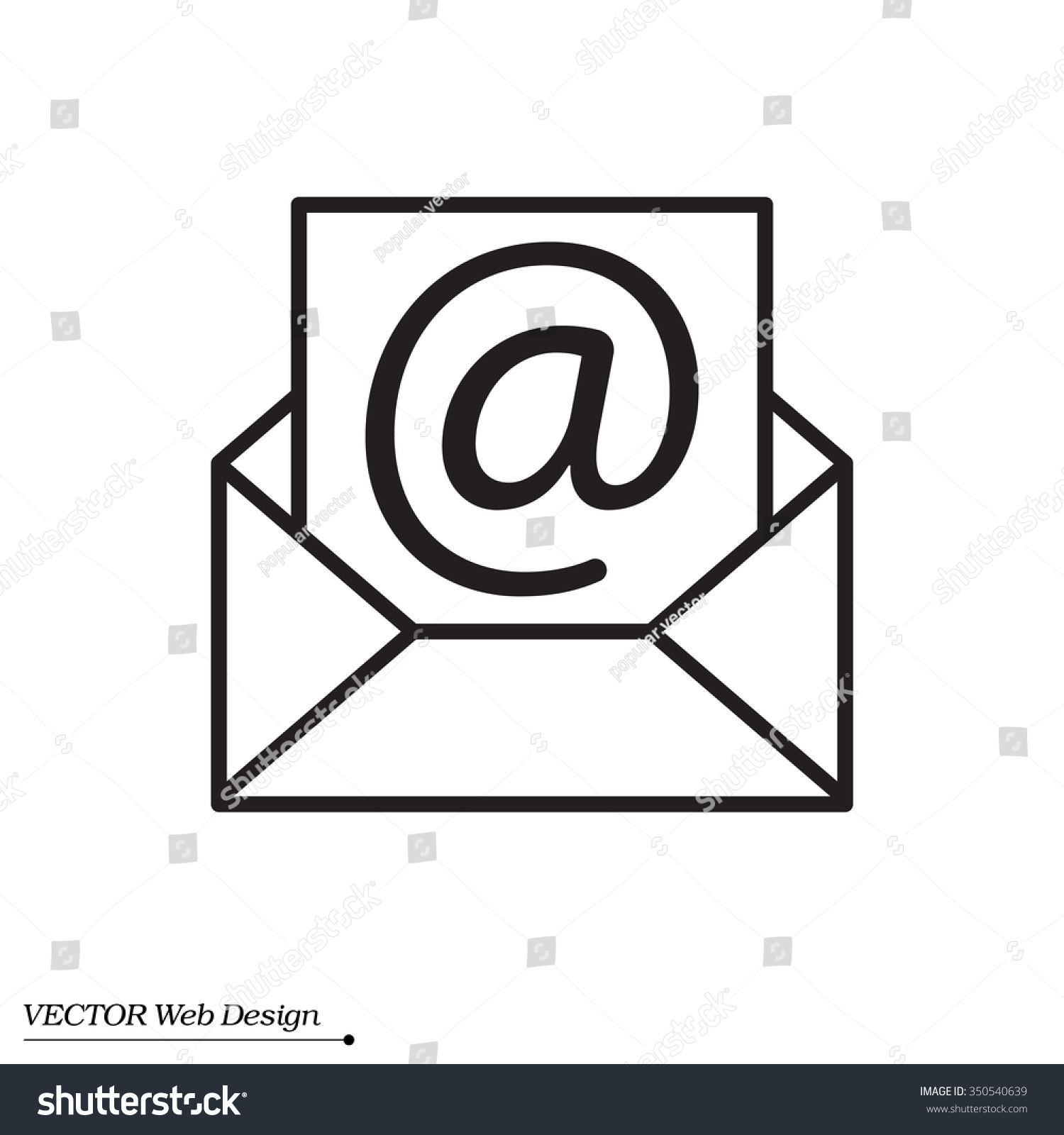 Envelope Mail Icon Email Message Sign Stock Vector