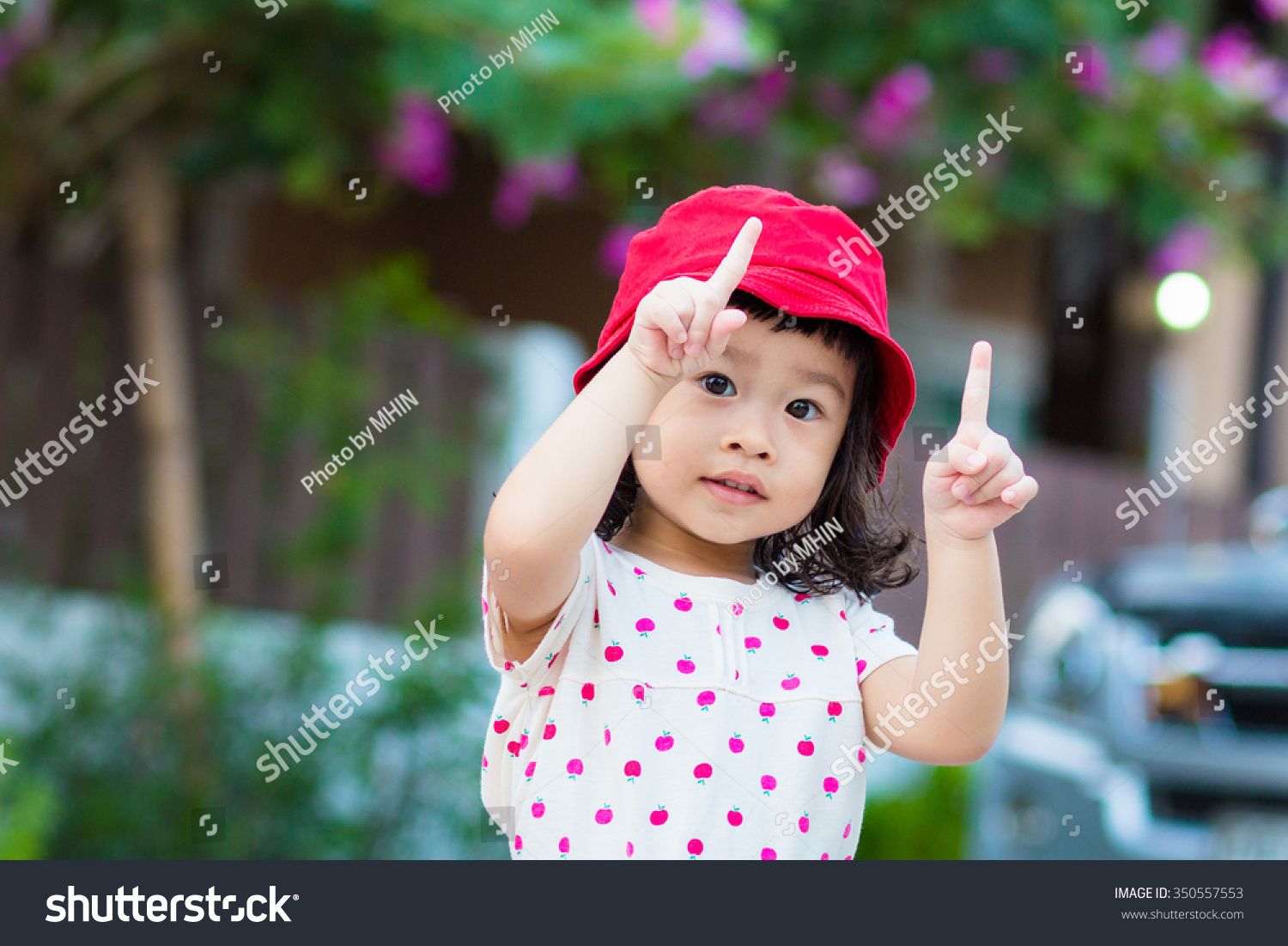 asian baby cute girl curly hair stock photo (royalty free) 350557553