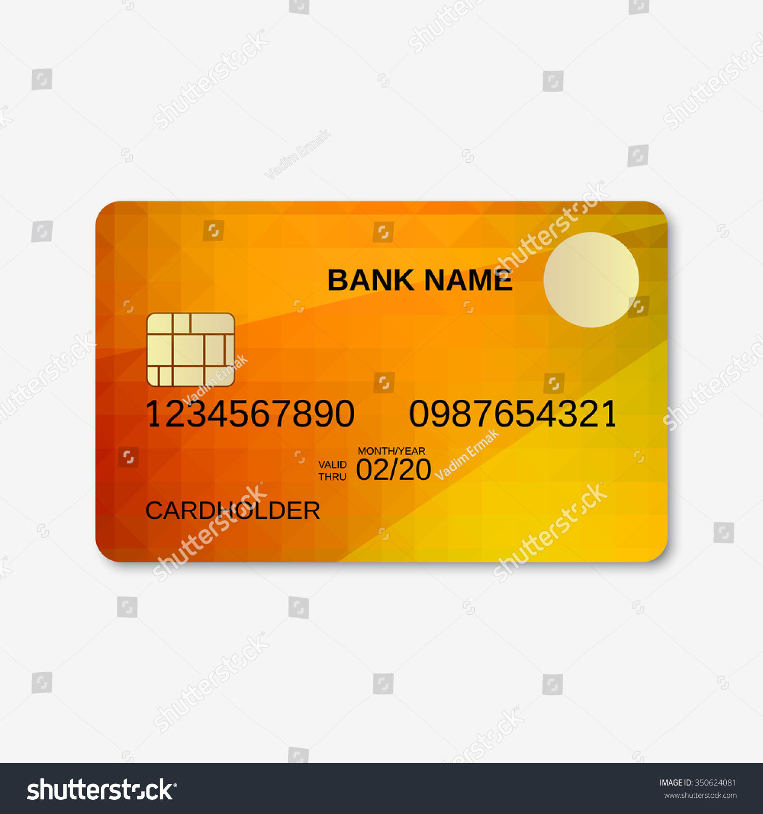 bank card credit card discount card stock vector 350624081 shutterstock. Black Bedroom Furniture Sets. Home Design Ideas