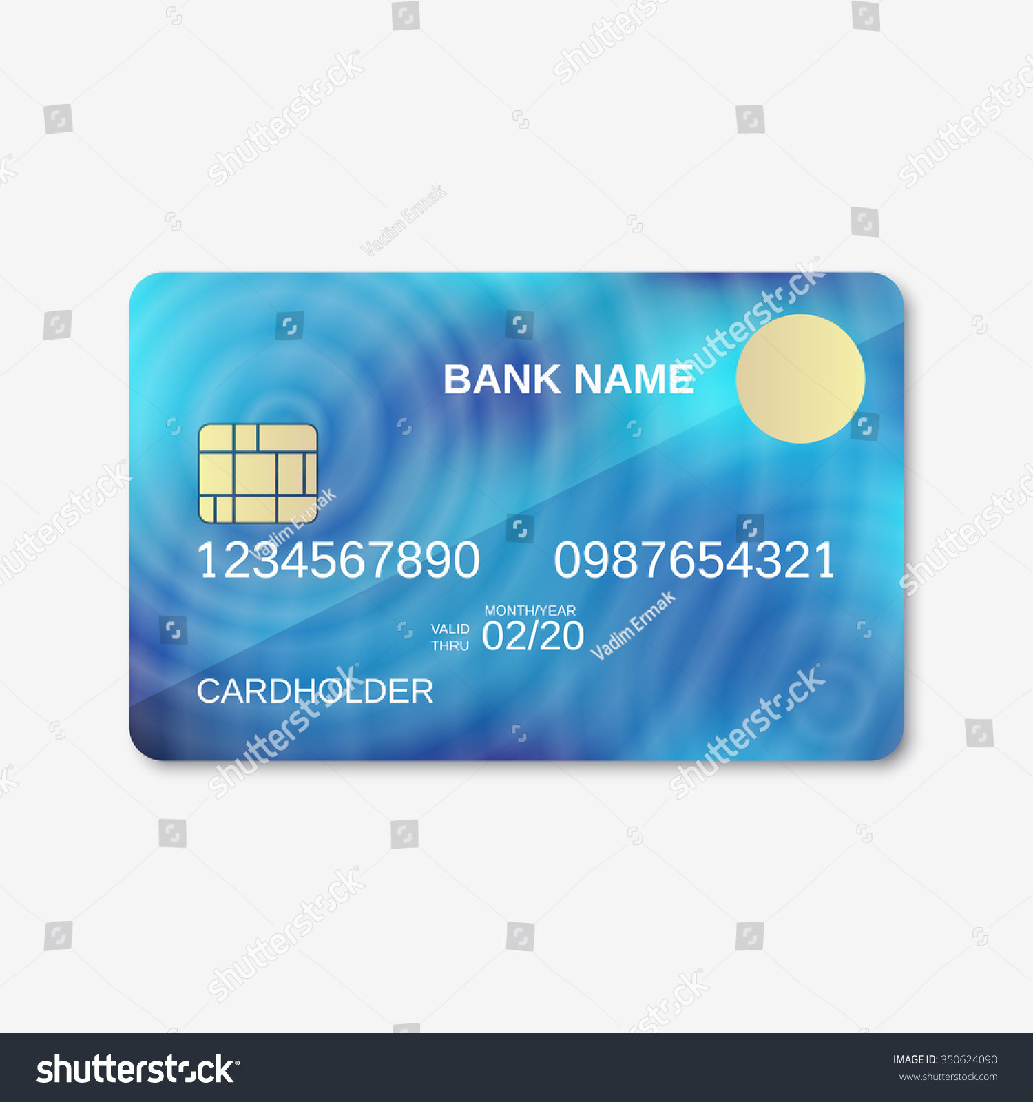 bank card credit card discount card stock vector 350624090 shutterstock. Black Bedroom Furniture Sets. Home Design Ideas