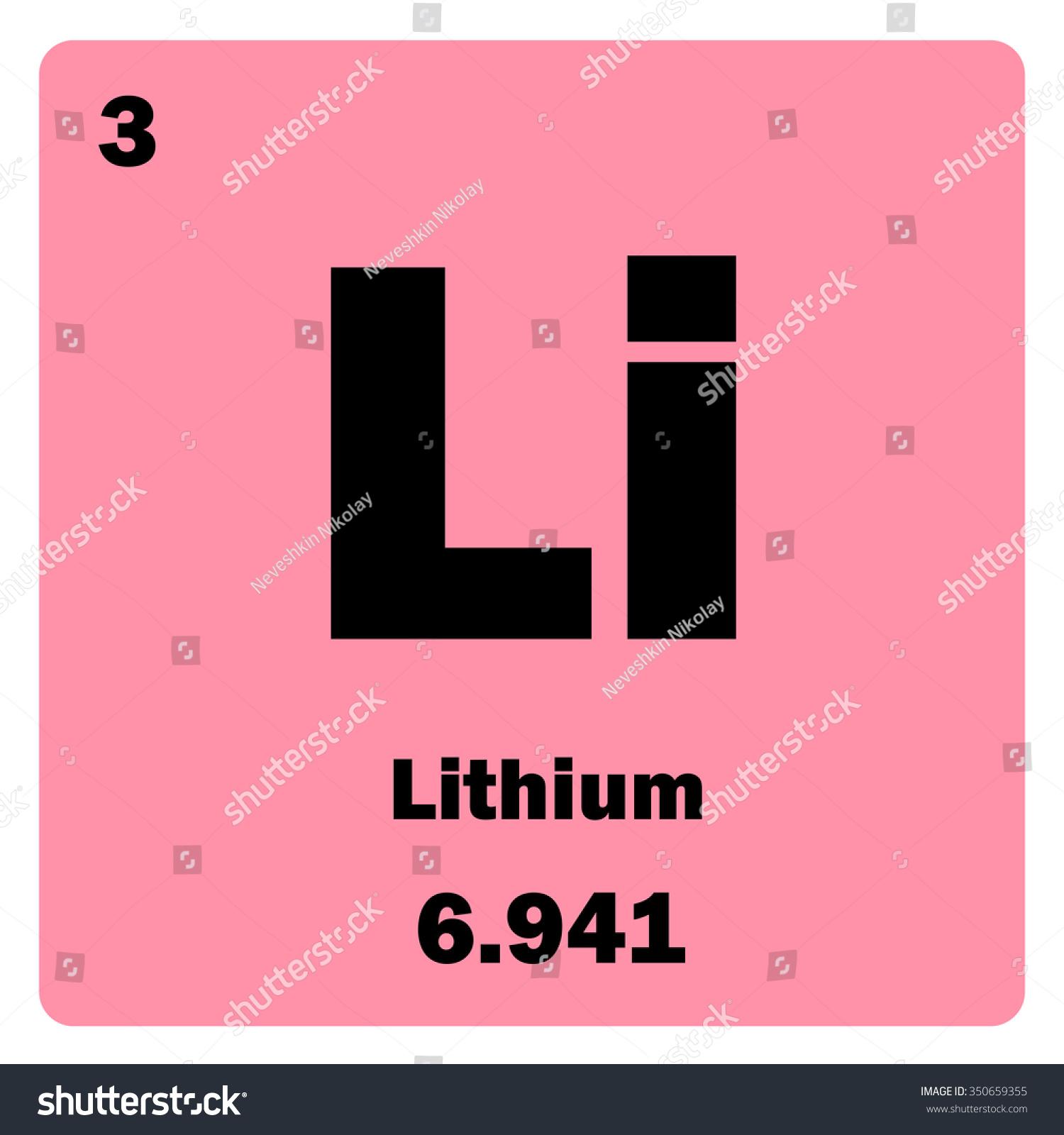 Vector illustration illustration shows chemical element stock illustration shows a chemical element lithium group of alkali metal gamestrikefo Choice Image
