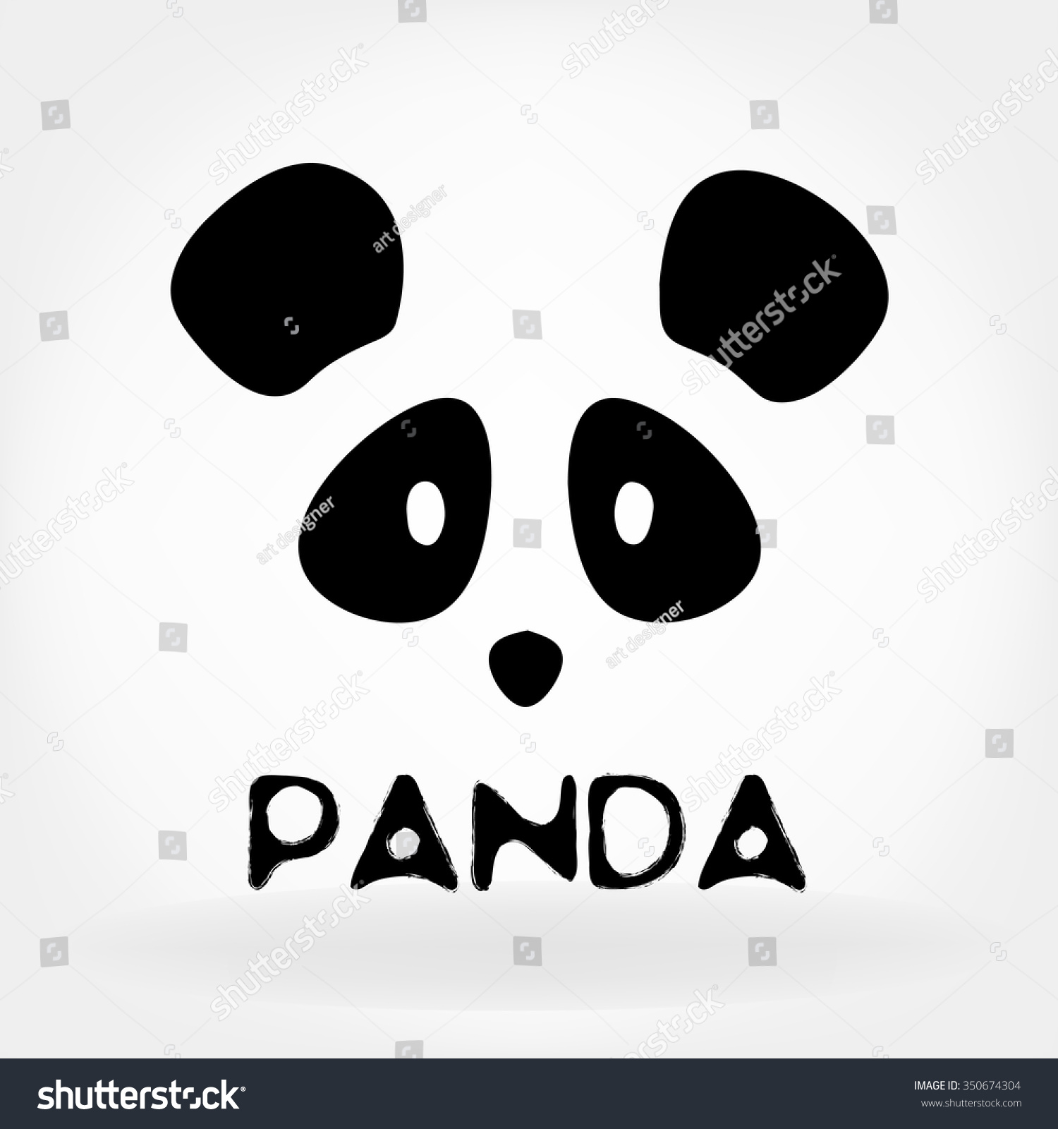 Panda Logo Design Template Stock Vector 350674304 - Shutterstock