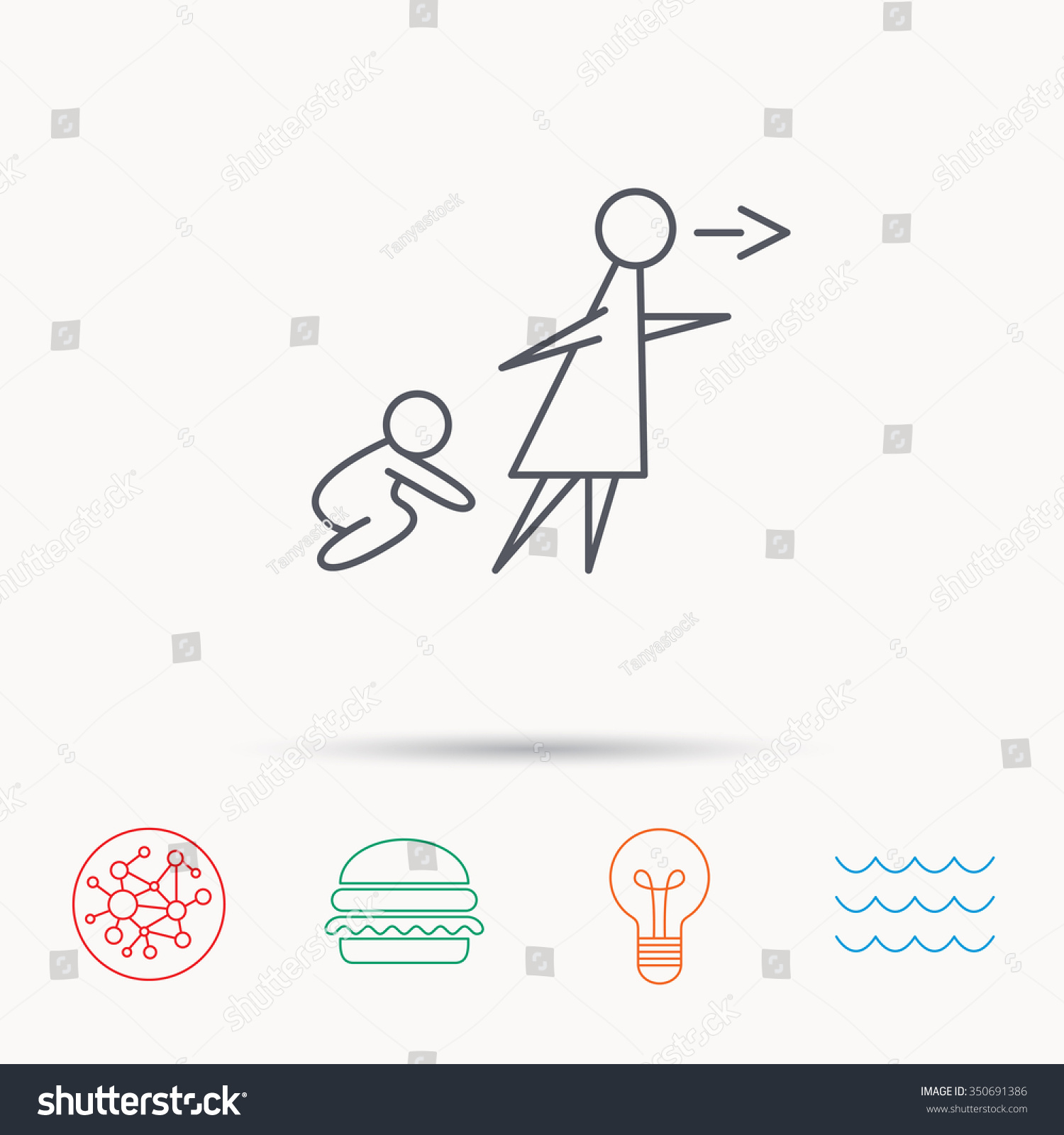 unattended baby icon babysitting care sign do not leave your save to a lightbox