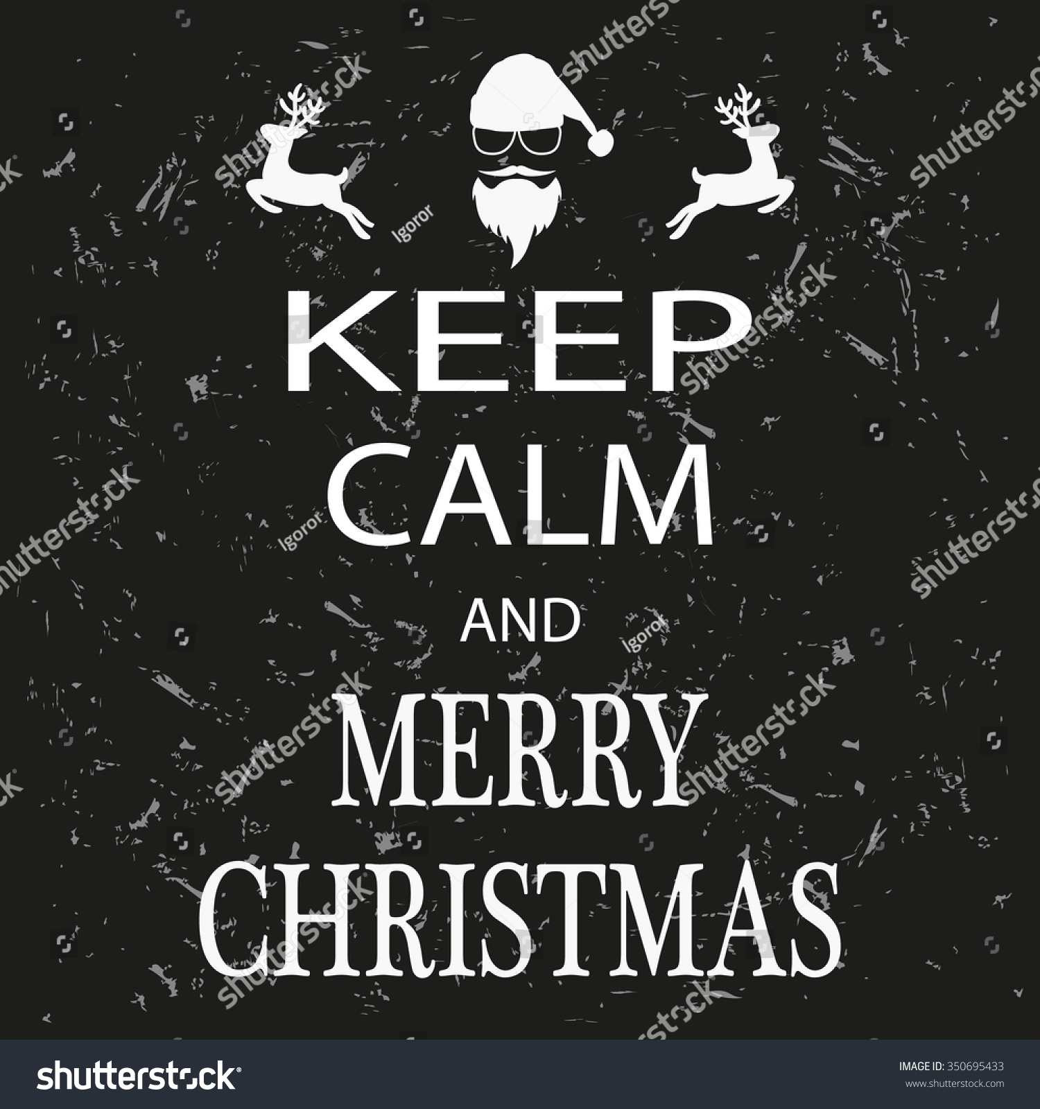 Poster Keep Calm Merry Christmas Stock Illustration 350695433 ...