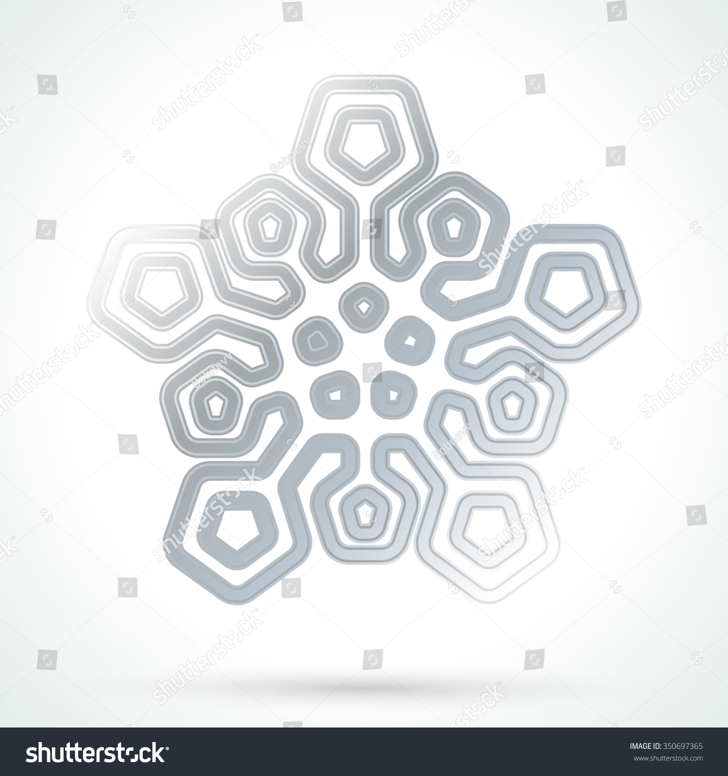Silver snowflake icon abstract winter symbol stock vector silver snowflake icon abstract winter symbol decorative element for brochure flyer greeting buycottarizona