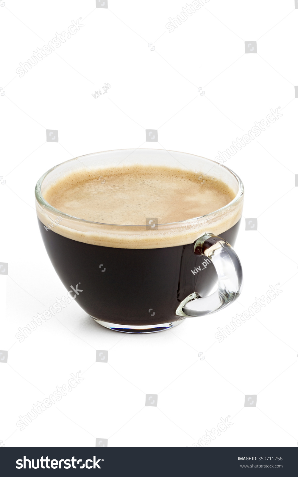 Natural Dark Coffee : Royalty free americano black coffee with natural