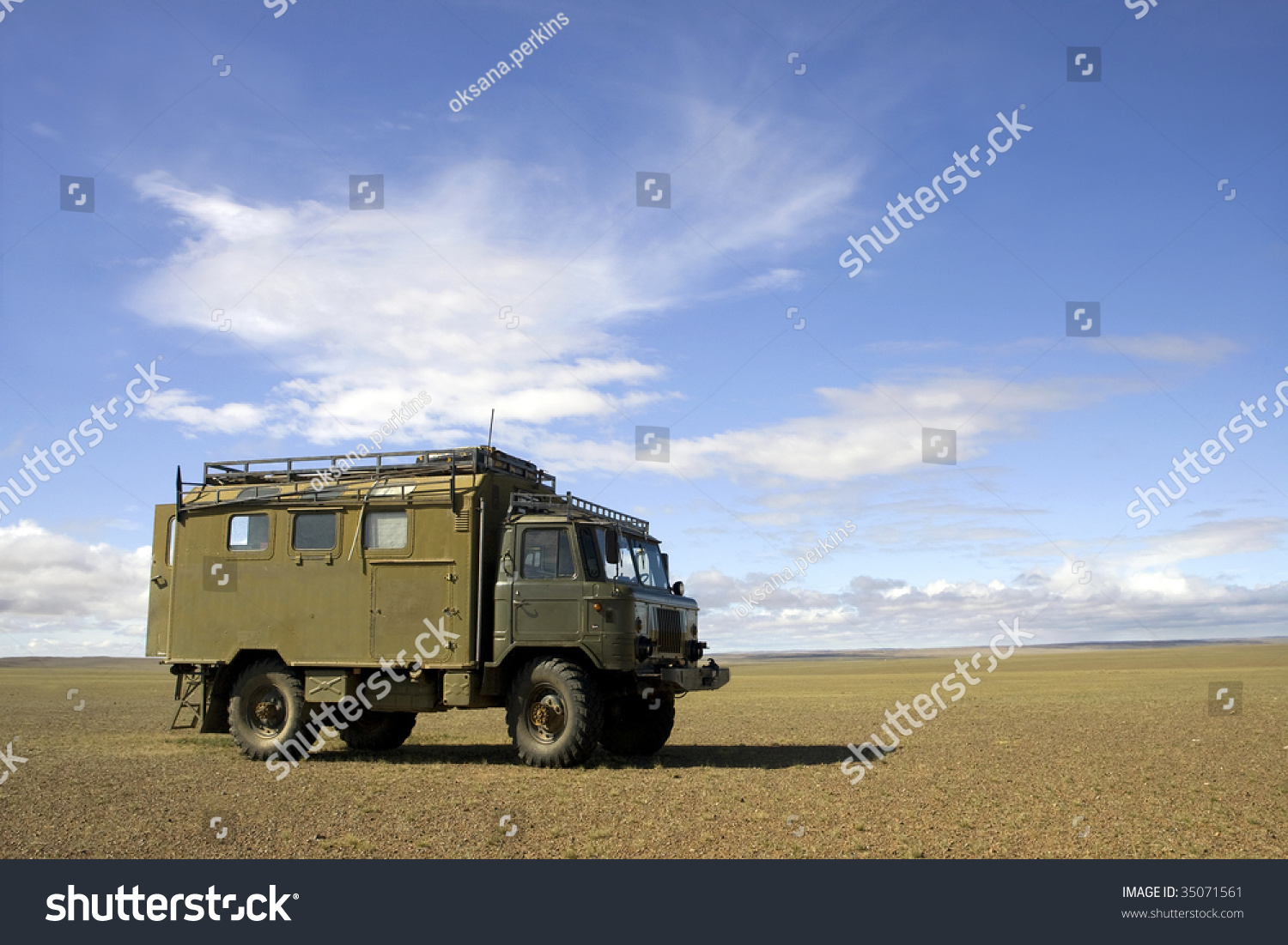 Big Truck Trader >> Old Soviet Military Truck Gaz66 Gobi Stock Photo 35071561 - Shutterstock