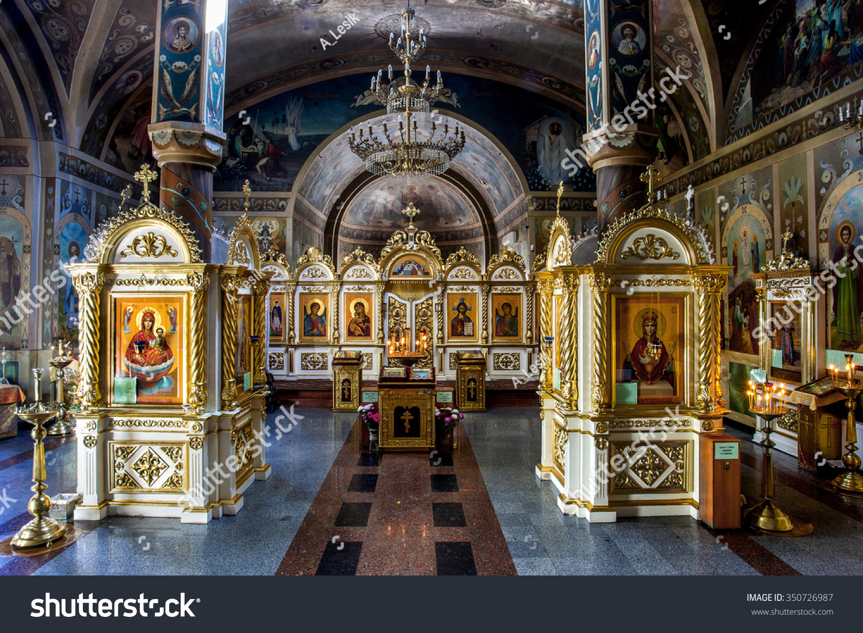 odessa ukraine interior of the orthodox church altar. Black Bedroom Furniture Sets. Home Design Ideas