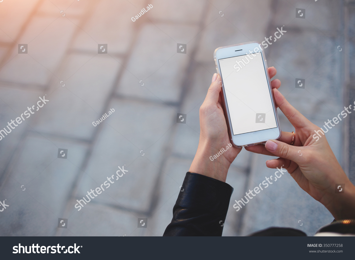 Cropped Shot View Womans Hands Holding Stock Photo ...