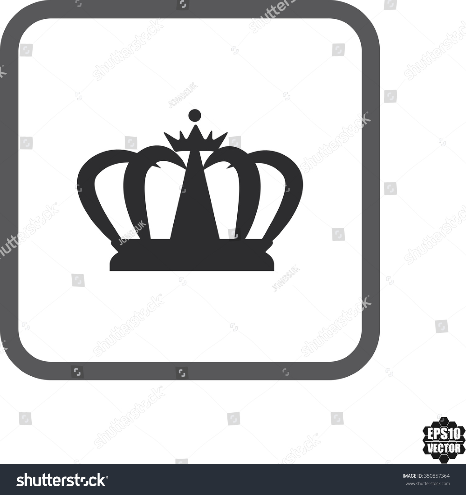 Crown Symbol Icons On White Background Stock Vector Royalty Free