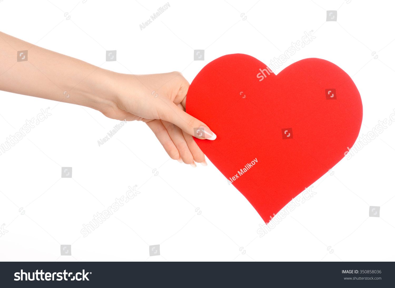 Love greetings card theme beautiful female stock photo 350858036 love and greetings card theme beautiful female hand holding a paper card red heart isolated kristyandbryce Image collections