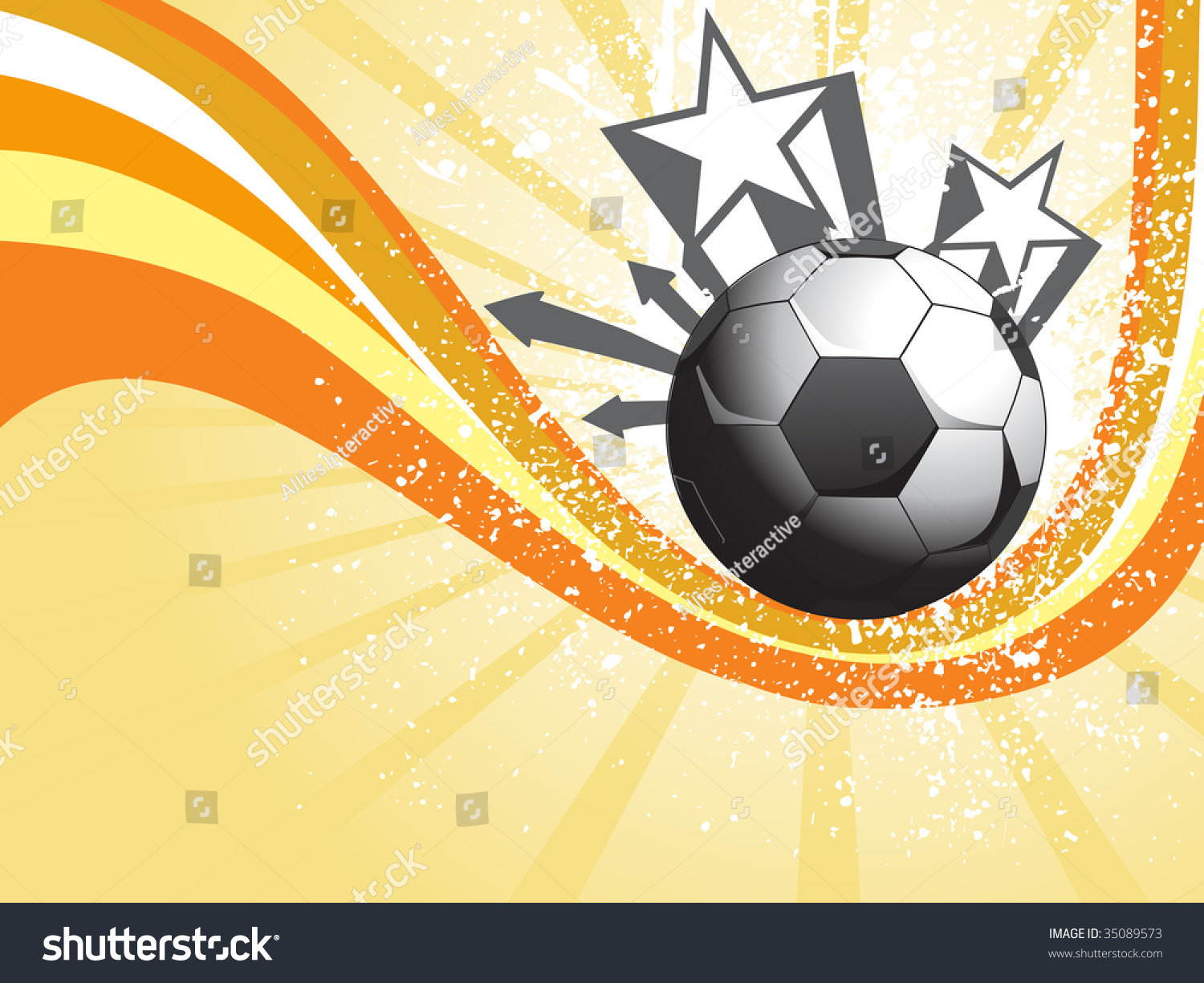 Abstract Grungy Background Volleyball Arrowhead Stock: Abstract Yellow Rays Background With Grungy Soccer And