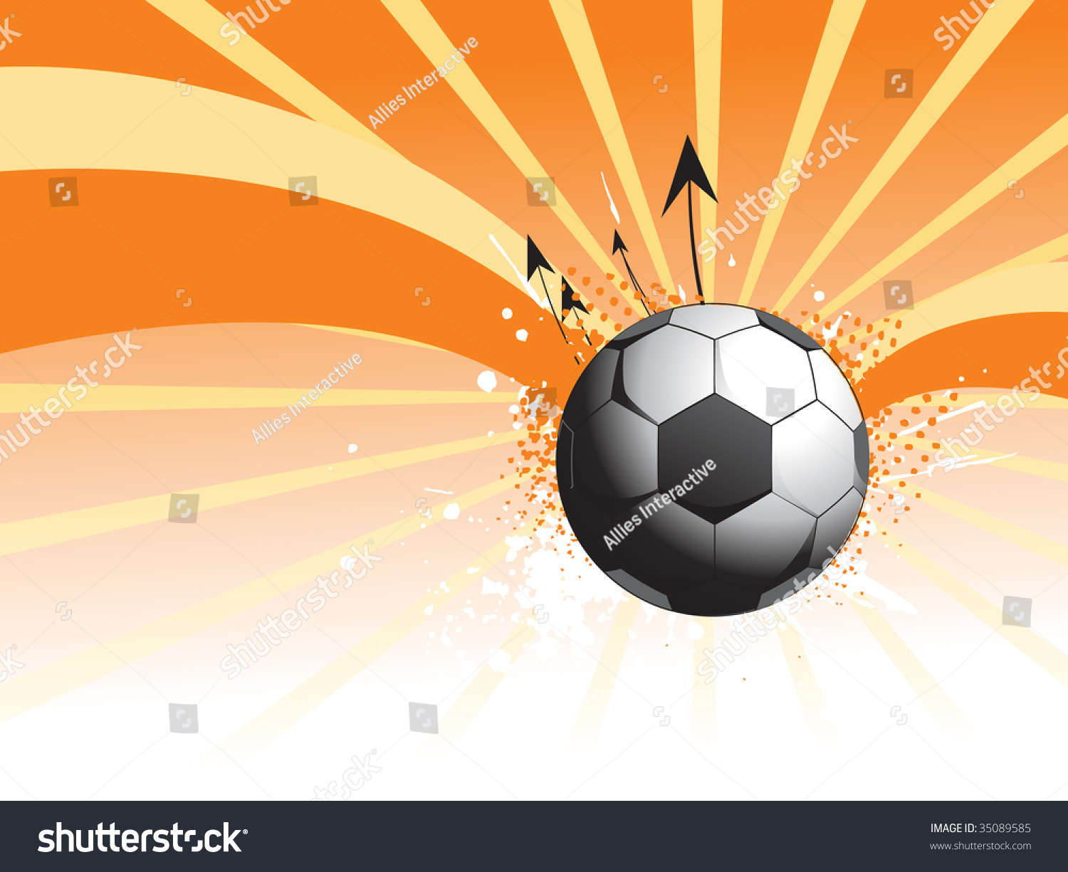 Abstract Grungy Background Volleyball Arrowhead Stock: Abstract Rays Background With Grungy Soccer And Arrowhead