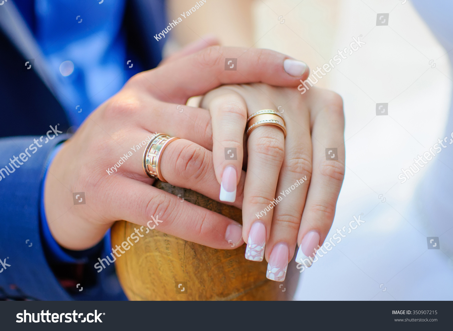 Hand Groom Bride Man Holds Womans Stock Photo Royalty Free