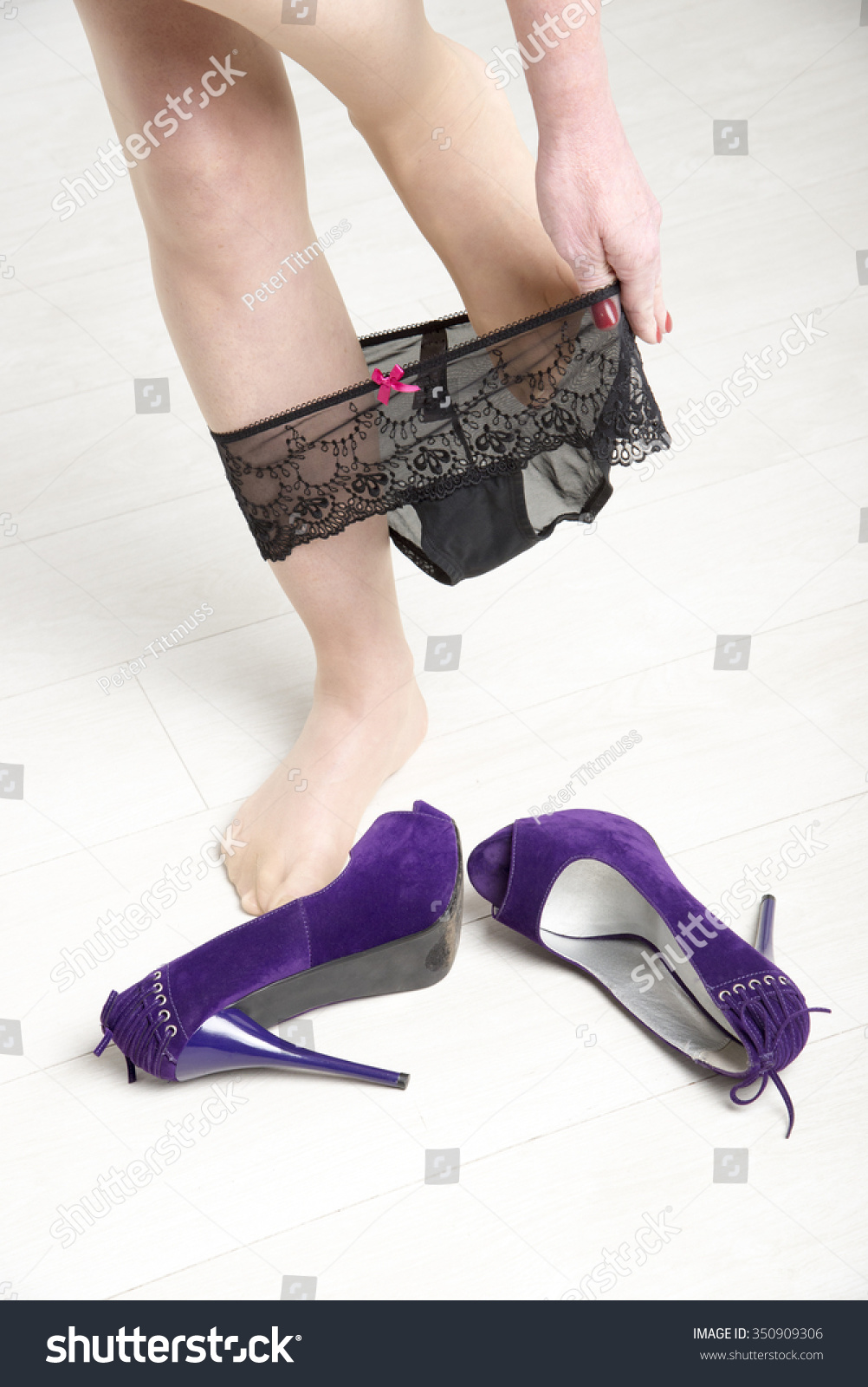 Women Removing Shoes