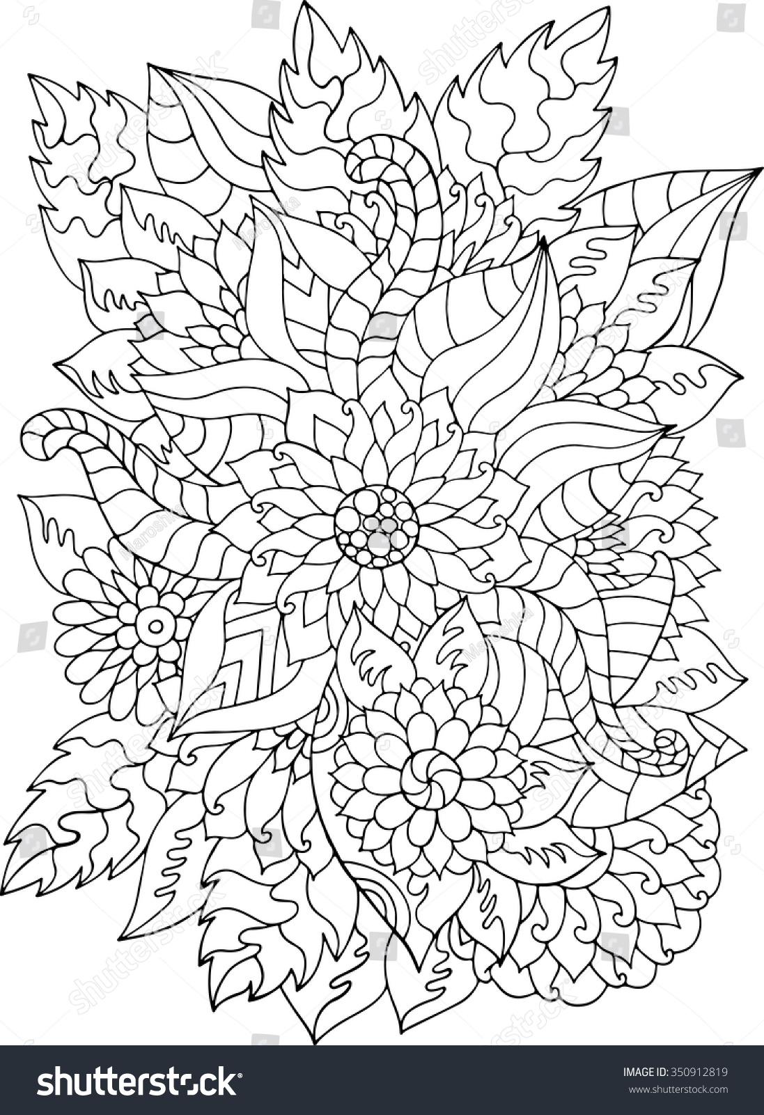 flower leaves coloring pages - photo#43