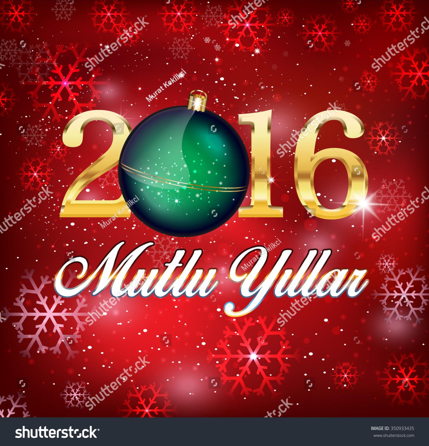 Happy New Year Turkish Mutlu Yillar Stock Vector 350933435 ...